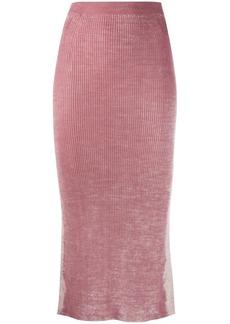Diesel rear slit knitted skirt