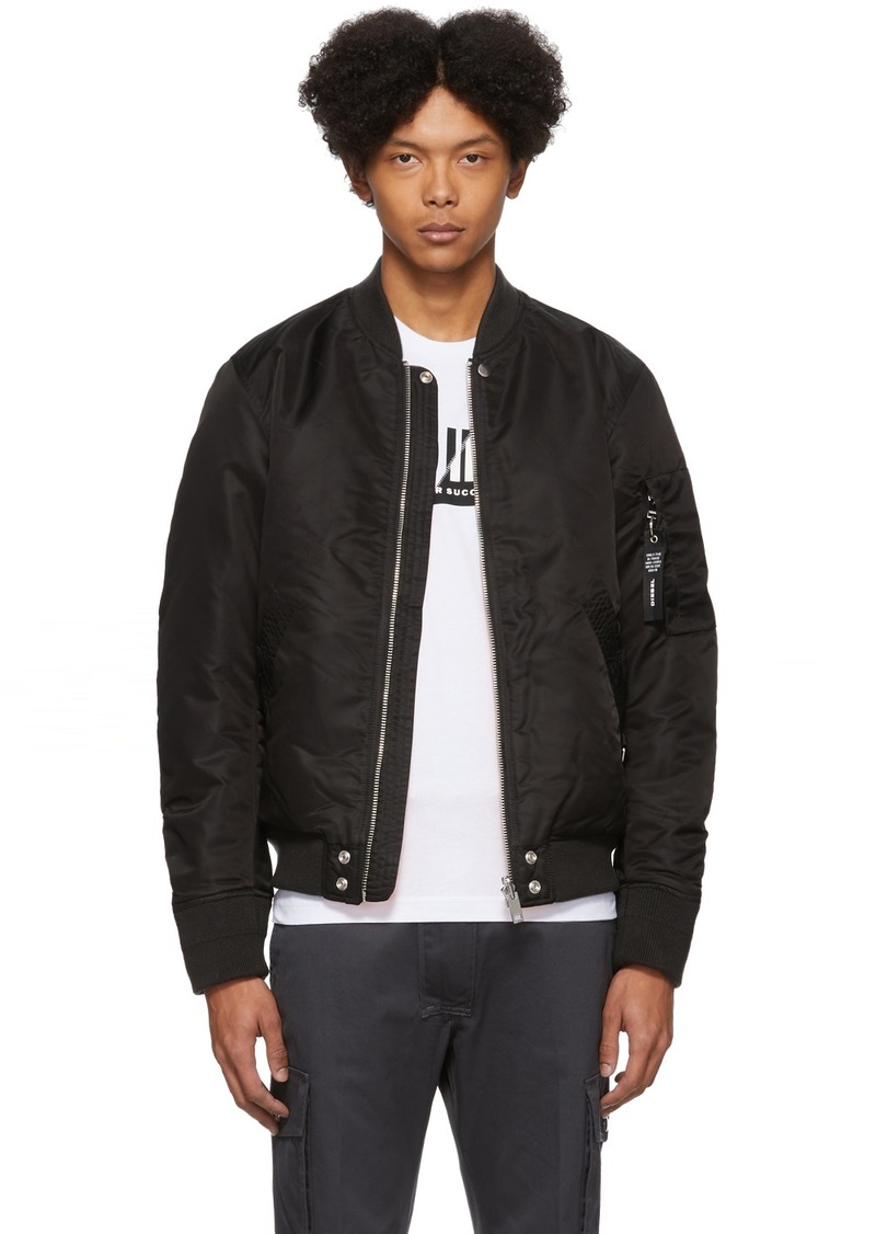 Diesel Reversible Black J-Ross-Rev Bomber Jacket