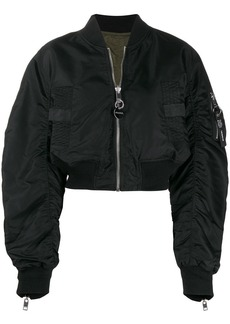 Diesel reversible cropped bomber jacket