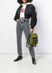Diesel reversible cropped bomber jacket