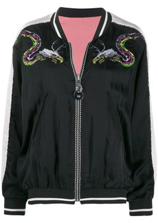 Diesel reversible embroidered bomber jacket