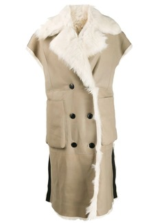 Diesel reversible sleeveless shearling coat