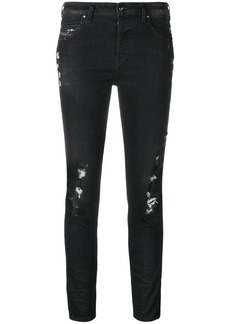 Diesel ripped cropped jeans