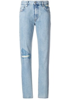 Diesel ripped detail straight jeans