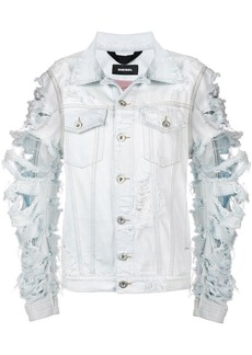 Diesel ripped distressed jacket