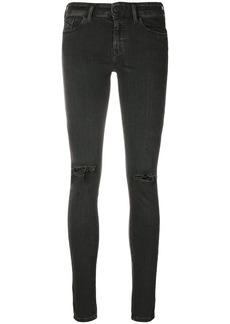 Diesel ripped knee skinny jeans