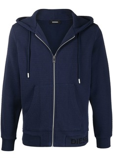 Diesel S-Electrum waffle-knit hoodie
