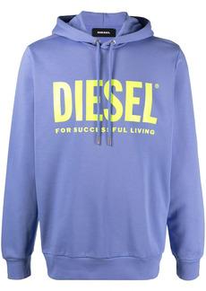 Diesel S-Gir-Hood-Division logo-print cotton hoodie