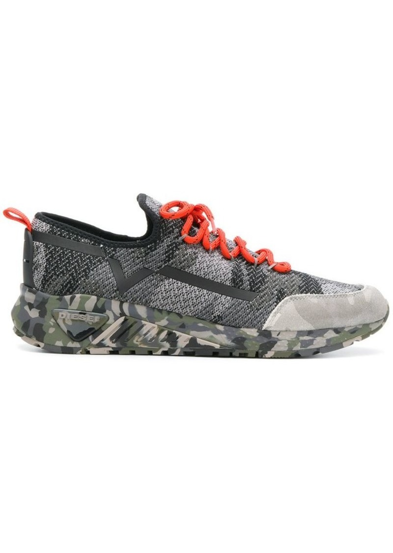 cd88f32e007b8 Diesel S-KBY camouflage sneakers | Shoes