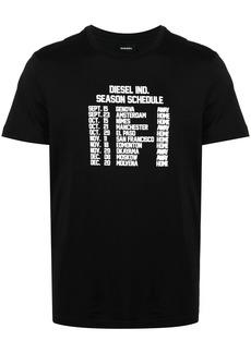 Diesel schedule print T-shirt
