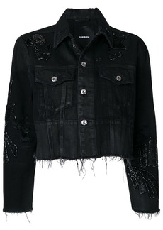 Diesel sequin embellished denim jacket