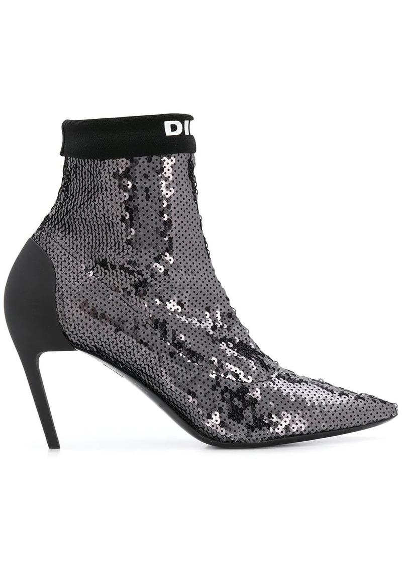 Diesel Sequined mid-heel sock boots