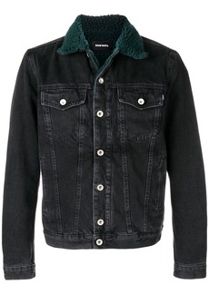 Diesel shearling denim jacket