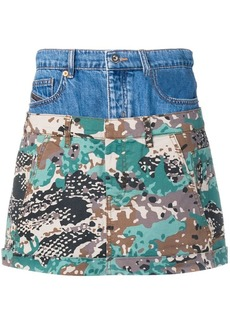 Diesel short layered skirt