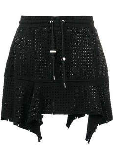 Diesel short stud-embellished skirt