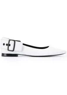 Diesel side buckle ballerina shoes