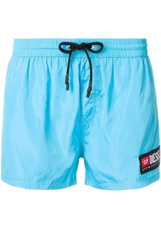 Diesel side logo patch swim shorts