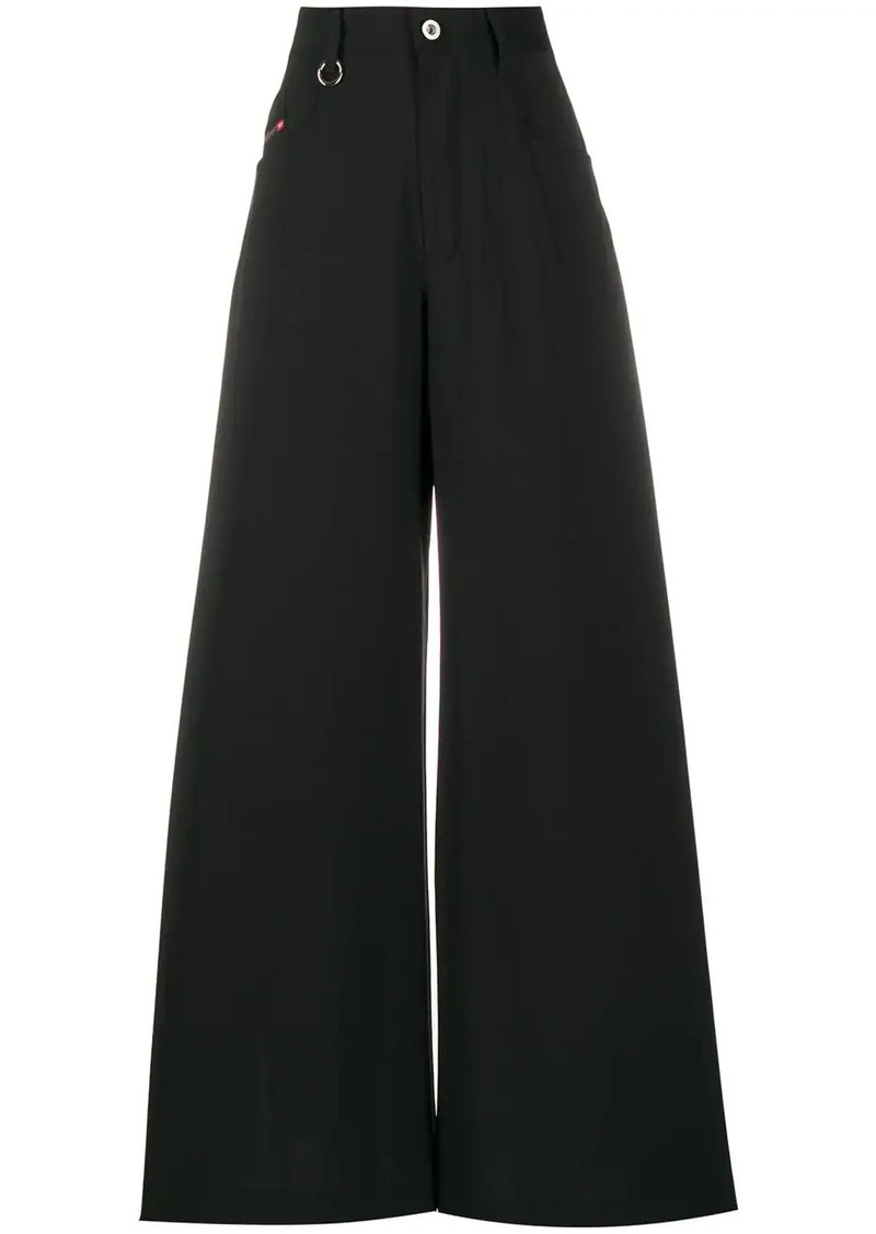 Diesel side slit high-waisted trousers