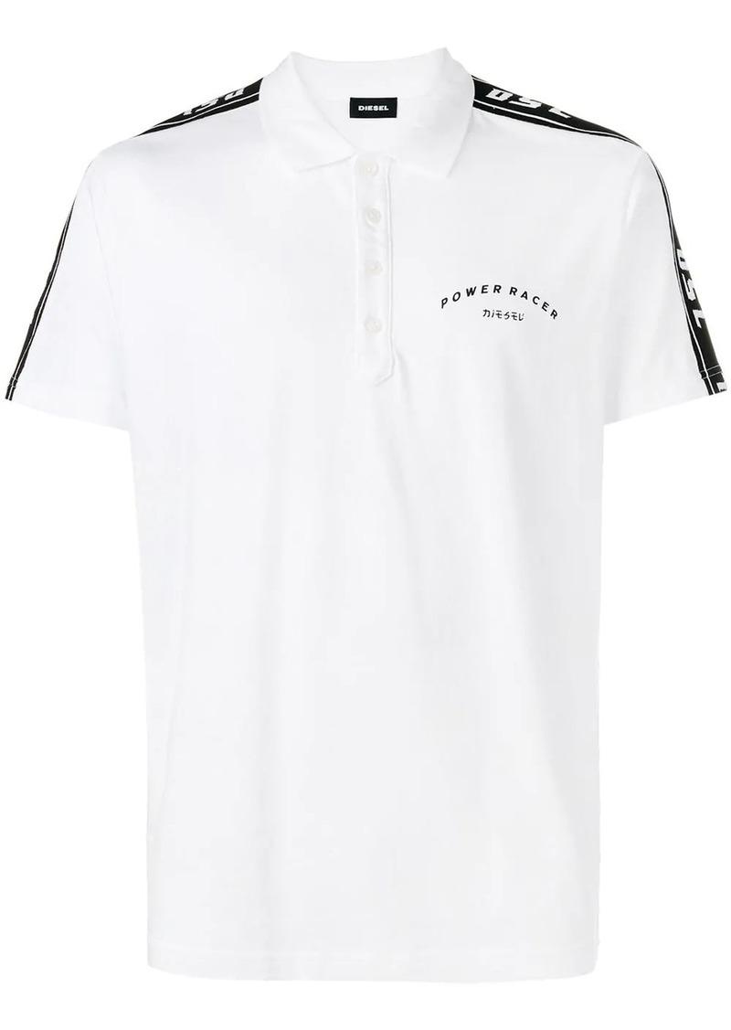 Diesel side stripe polo shirt