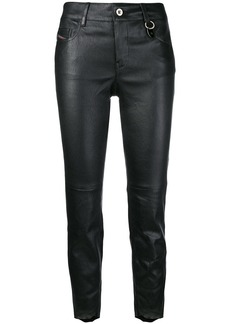 Diesel skinny-fit cropped trousers