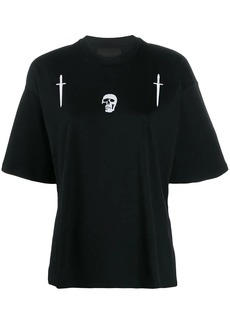 Diesel Skull embroidered T-shirt