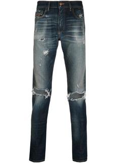 Diesel slash knee slim-fit jeans