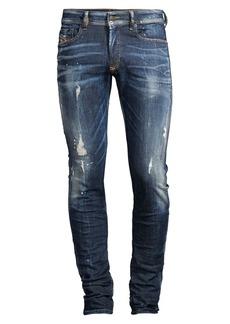 Diesel Sleenker Skinny Distressed Jeans