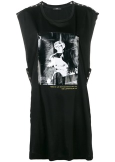 Diesel sleeveless top with shiny print