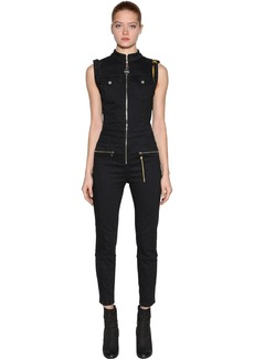 Diesel Slim Fit Zipped Cotton Denim Jumpsuit