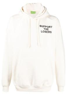 Diesel slogan-embroidered drawstring hoodie