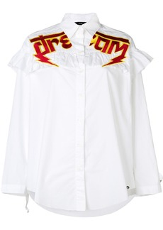 Diesel slogan embroidered shirt