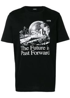 Diesel slogan graphic print T-shirt