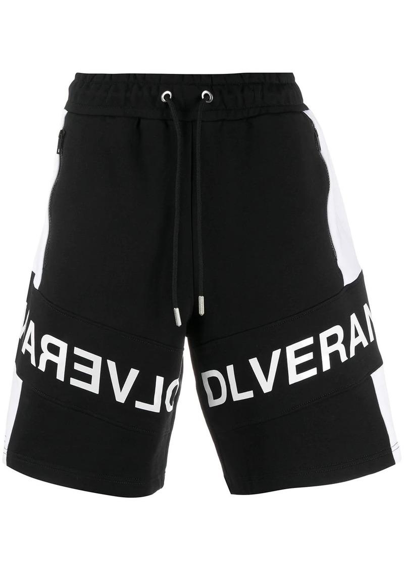 Diesel slogan print shorts