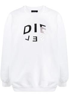 Diesel split-logo sweatshirt