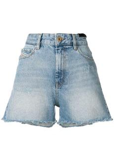Diesel stonewashed denim shorts