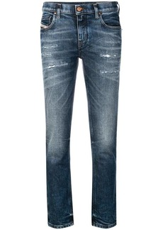 Diesel stonewashed distressed jeans