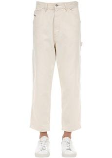 Diesel Straight P-lamar Cotton Denim Jeans