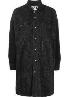 Diesel strass denim shirt dress