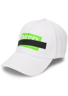 Diesel strikethrough logo cap