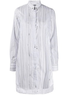 Diesel stripe print shirt dress