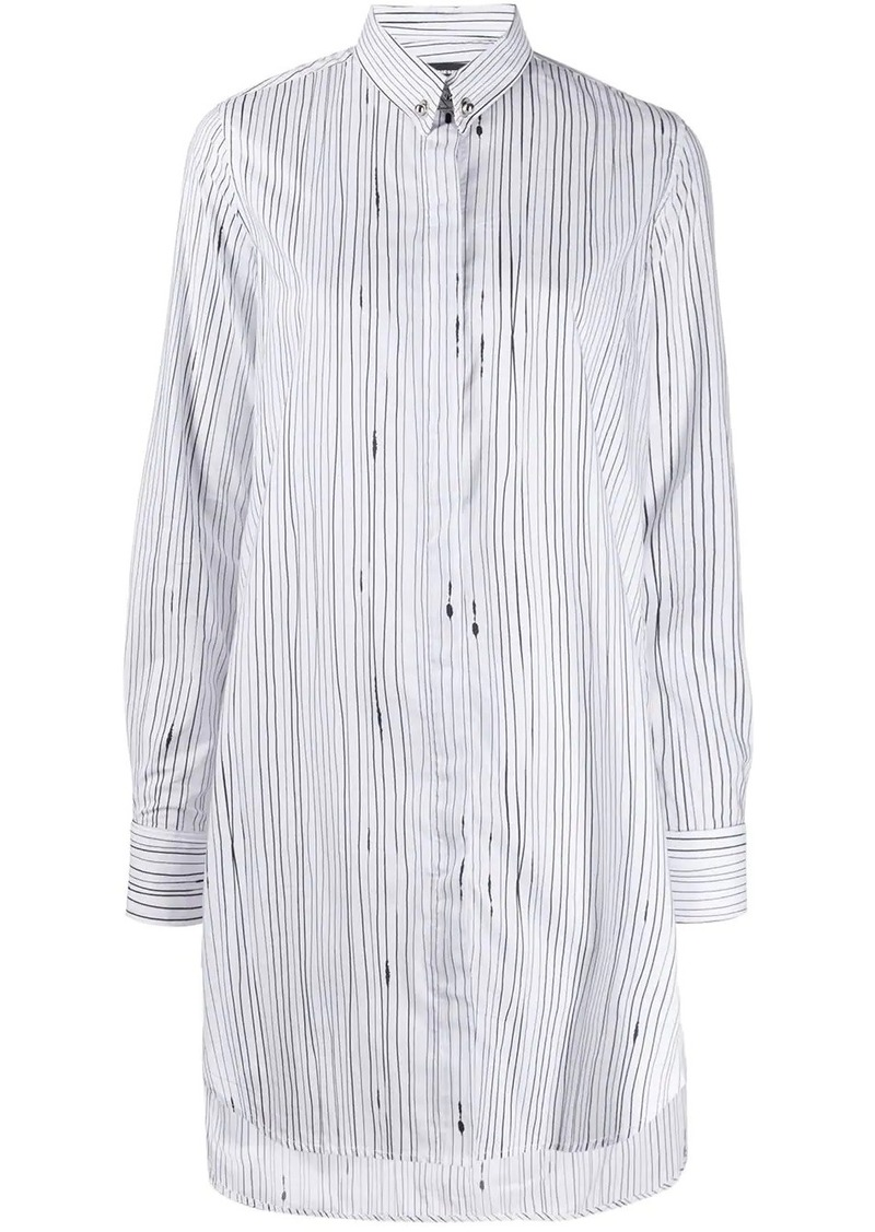 Diesel stripe print shirt dress