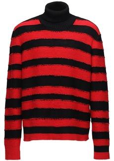 Diesel Striped Knit Turtleneck Sweater