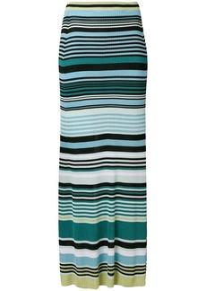 Diesel striped maxi skirt