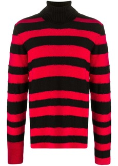 Diesel striped roll-neck jumper