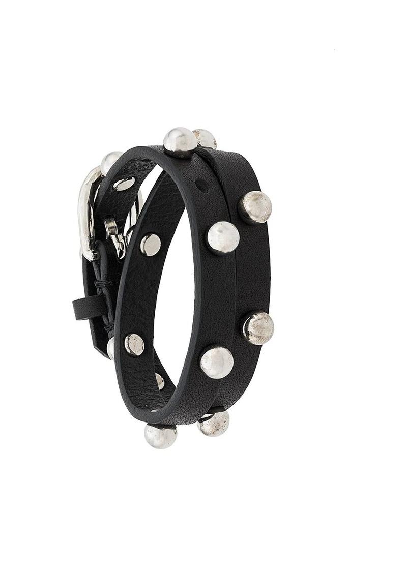 Diesel studded wrap bracelet