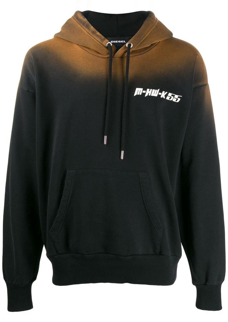 Diesel sun-faded effect hoodie