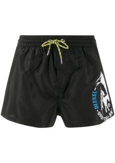 Diesel Mohawk logo swim shorts