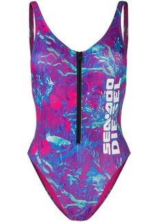 Diesel x Sea-Doo camo-fish print swimsuit