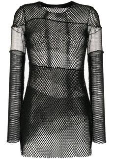 Diesel T-Aki mesh fabric top