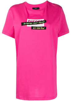 Diesel T-Daria-R2 embroidered tape cotton T-shirt